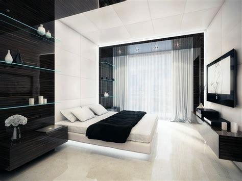 chambre noir et blanc design chambre et blanche signification des couleurs et