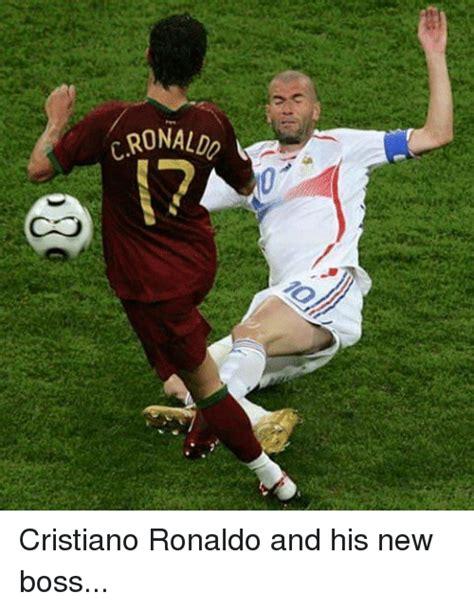 Facebook Soccer Memes - crona cristiano ronaldo and his new boss cristiano ronaldo meme on sizzle