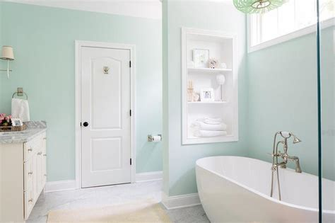Soothing Green Bathroom Paint Colors Contemporary