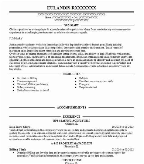 resume for data entry clerk with no experience best data entry clerk resume exle livecareer