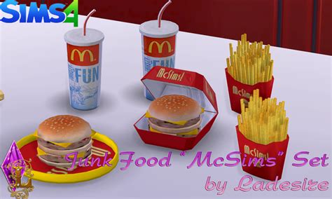 cuisine sims 3 ladesire 39 s creative corner ts4 quot mcsims junk food quot by