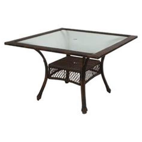 hayden island patio table garden treasures hayden island glass top brown hexagon