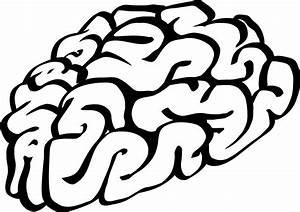 Brain clip art black and white human brain cartoon of a ...