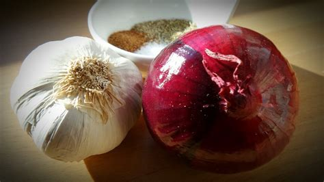 Free photo: Onion, Garlic, Spice, Herb, Healthy   Free