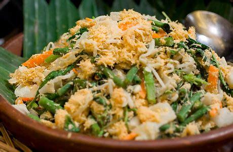 resep membuat urap sayuran bumbu kelapa resep  masakan