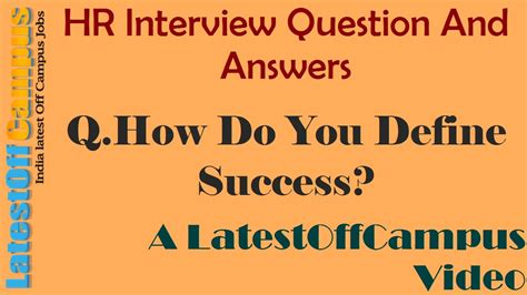 Define Answer by Hr Question And Answers How Do You Define