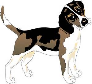Beagle Dog Clip Art Black and White