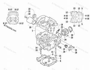 Arctic Cat Side By Side 2008 Oem Parts Diagram For Cylinder Head Assembly