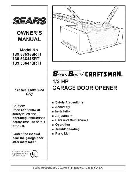 adjusting sears garage door opener craftsman garage door opener adjustment adjust craftsman