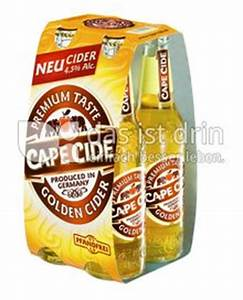 Was Ist Cider : cape cide golden cider kalorien kcal und inhaltsstoffe das ist drin ~ Markanthonyermac.com Haus und Dekorationen