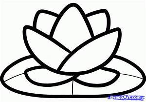 How to Draw a Lotus for Kids, Step by Step, Flowers For ...