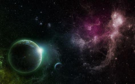 Purple & Green Galaxy Planets Wallpapers  Purple & Green