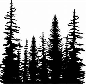 Pine Trees Silhouette - ClipArt Best