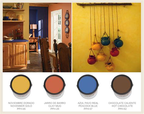 mexican yellow paint color colorfully behr hacienda style