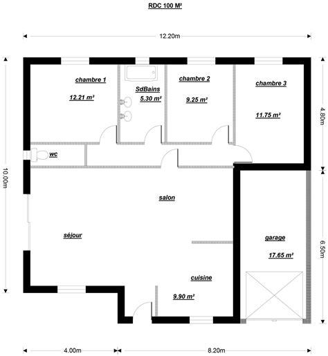 plan maison 3 chambres 1 bureau plan maison 3 chambres 1 bureau beautiful finest plan de