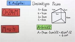 Dreieck Umfang Berechnen : oberfl cheninhalt eines prismas berechnen bung mathematik online lernen ~ Themetempest.com Abrechnung