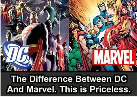 major difference  marvel  dc barnorama