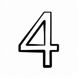 Number 4 Black And White Clipart - Clipart Suggest