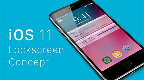 ios 11 concept imagines big changes for iphone lockscreen