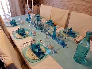 Decoration Theme Mer A Faire Soi Meme : deco de table mer homeezy ~ Preciouscoupons.com Idées de Décoration