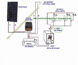 Wire Solar Panel To 220v Inverter  12v Battery  12v   U0026 Dc