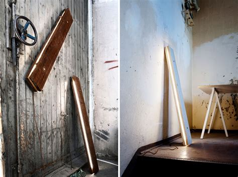 plank light fixture   raw wood