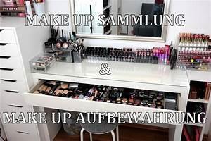 Make Up Schrank : make up sammlung aufbewahrung mein schminktisch update ikea m bel alex malm youtube ~ Frokenaadalensverden.com Haus und Dekorationen