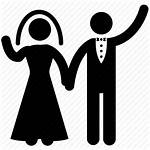 Icon Bride Groom Wife Vector Icons Silhouette