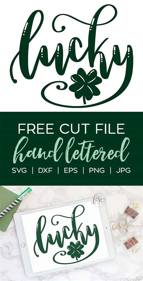 Free less mondays more summer svg file. Hand Lettered Lucky SVG Cut File - Love Paper Crafts