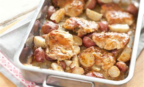 honey mustard chicken  roasted  potatoes recipe relish