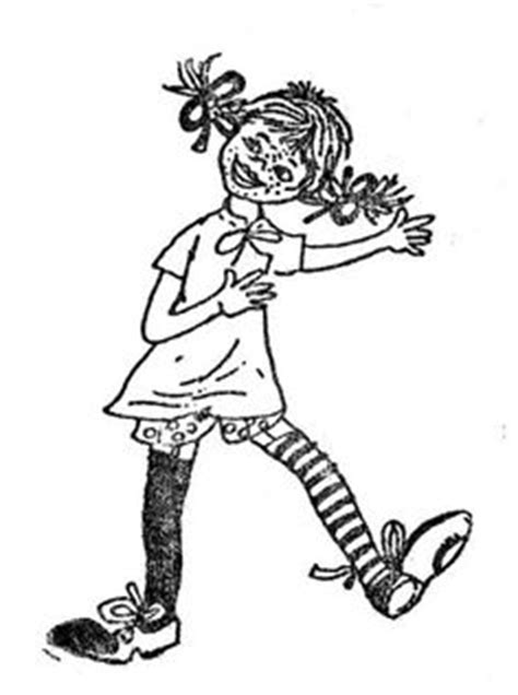 pippi longstocking coloring pages  razno pinterest