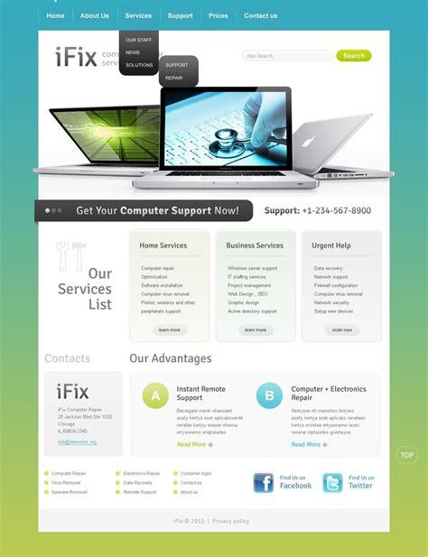 Computer Repair Web Template Free by Computer Repair Website Template 38360