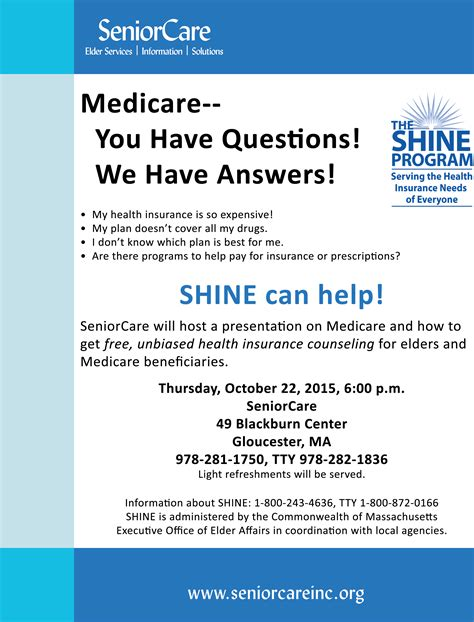 Even once you have selected a metallic tier, there will still be a range of plans. SeniorCare will host Lisa Rose, Regional SHINE Program Director, for a free presentation on ...