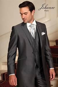 Costume 3 Pièces Gris : johann redingote en laine et soie gris anthracite ~ Dallasstarsshop.com Idées de Décoration