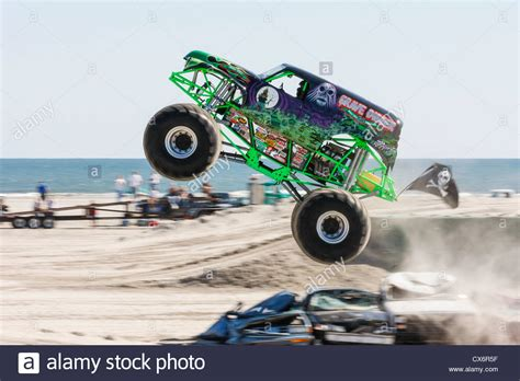 Grave Digger Monster Truck At Show Competition On The