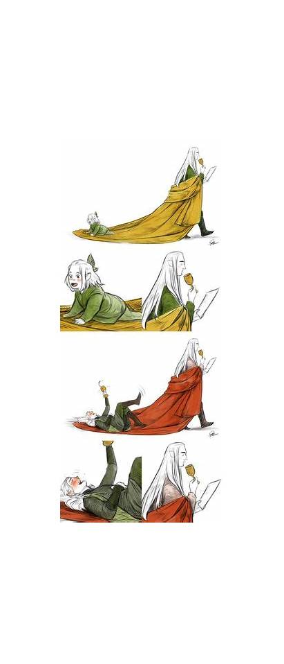 Legolas Thranduil Father His Hobbit Riding Gandalf