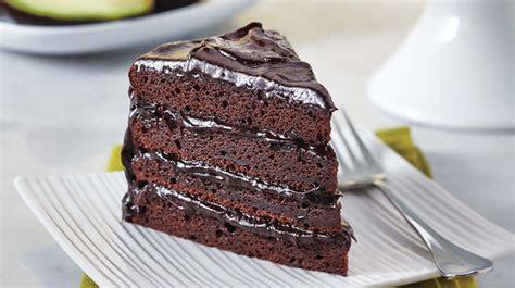 recette de cuisine pour anniversaire gâteau étagé au fudge glaçage à l avocat et au chocolat