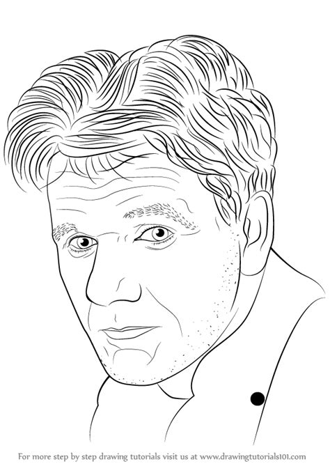 Learn How To Draw Gordon Ramsay (famous People) Step By