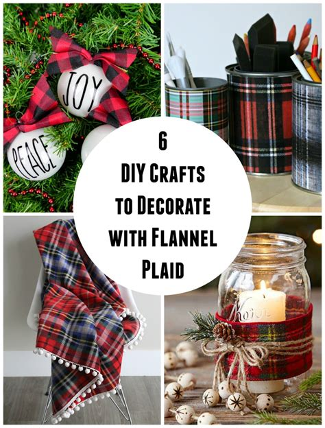 6 Diy Crafts To Decorate With Flannel Plaid  Make And Takes