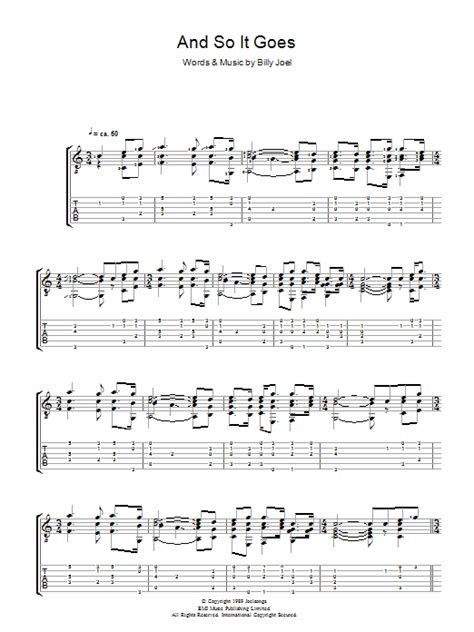 and so it goes sheet music direct