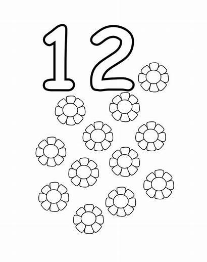 Coloring Number Pages Printable Preschool Numbers Worksheets