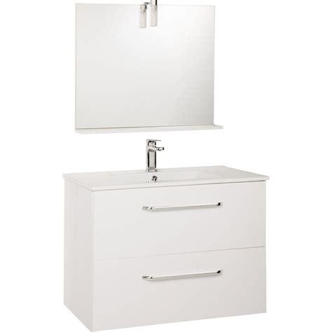 leroy merlin rangement cuisine meuble sous vasque dado 80 cm 2 tiroirs miroir blanc