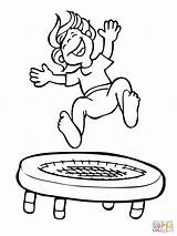 Trampoline Jumping Kid Coloring Pages Jump Drawing Printable Clipart Supercoloring Template Gymnastics Super Torchic Trampolines Getdrawings Clipground Colorings Sketch Dot sketch template