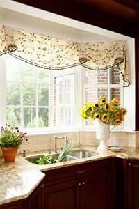valances for bay windows bay window valances - Google Search | Window Treatments | Bay window treatments, Kitchen window ...