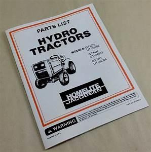 Homelite Jacobsen Hydro Tractors Gt12h Ut 34001 Gt14h Ut