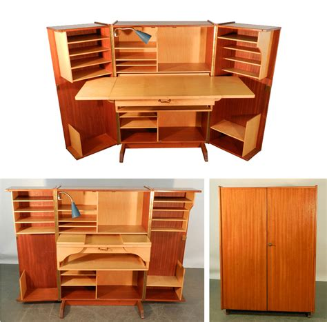 compact desk with storage teak and sycamore compact home office desk and storage