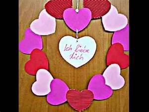 Weihnachtsgeschenke Für Mann : dekorative valentinskr nze kranz basteln zum valentinstag youtube ~ Orissabook.com Haus und Dekorationen