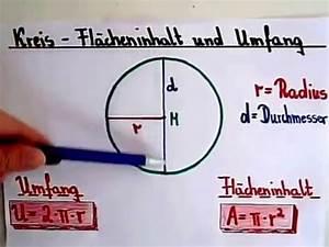 Umfang Berechnen Kreis : kreis berechnen fl cheninhalt und umfang youtube ~ Themetempest.com Abrechnung