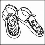 Coloring Native Moccasins Do2learn Credit Larger sketch template