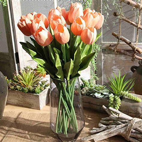 fiori artificiali real touch fiori artificiali bouquet di fiori finti in seta tulip
